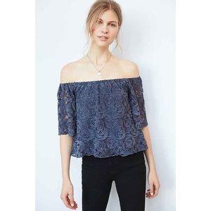 Ecoté UO Off Shoulder Floral Lace 3/4 Sleeve